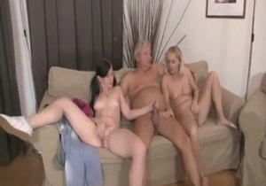 Fat dad have nasty incest fun