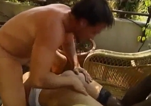 Hardcore outdoor incest in the missionary pose