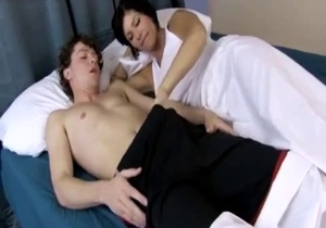 Busty mom pleased her horny as hell son