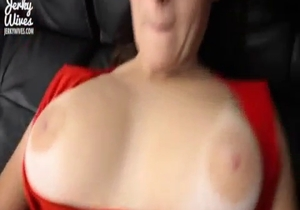 Busty mom is asking her son to fuck her cunt