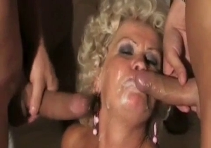 Dad and son bangs a big boobed mature mom