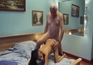 Miniature young daughter banged by her dad